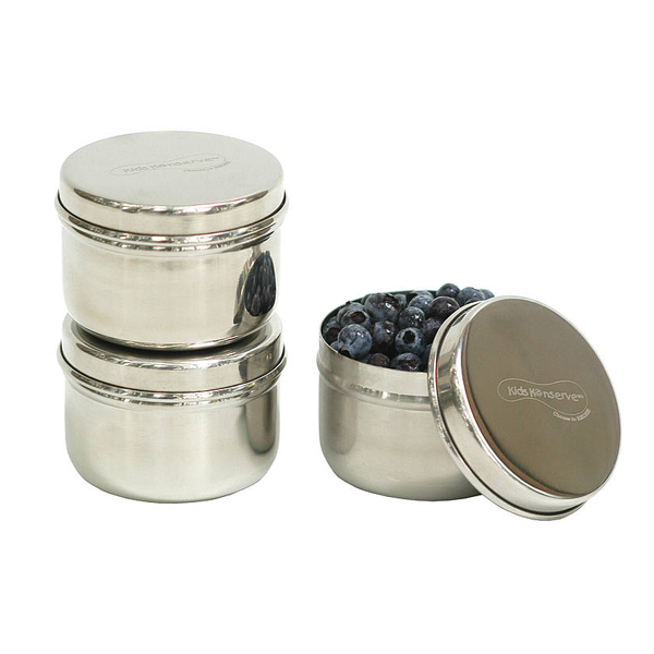 Stainless Steel Mini Food Containers set of 3 Ululacouk