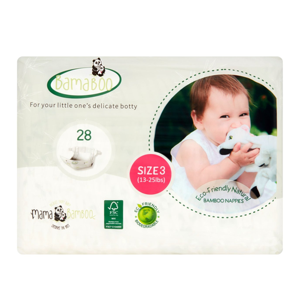 Bamaboo by Mama Bamboo Eco Nappies - size 3