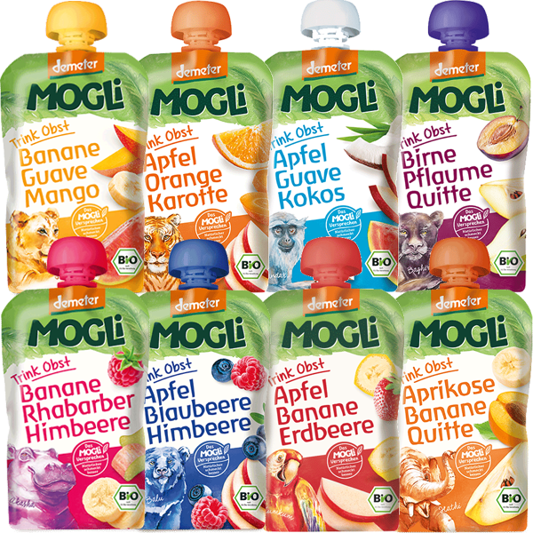MOGLi Organic Fruit Pouch Multi-Pack