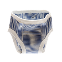 Organic Potty Training Pants blue stripe 12 - 24 months