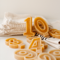 Goldrick Beeswax Number Candles