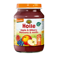 Holle Organic Apple & Bilberry Baby Food