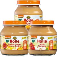 Holle Organic Baby Weaning Starter Fruit Jars Pack