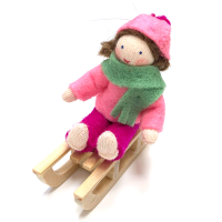 Ambrosius Girl on Sled Pink