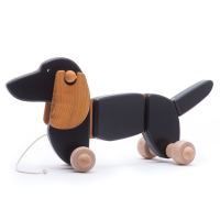 Bajo Wooden Pull Along Dachshund