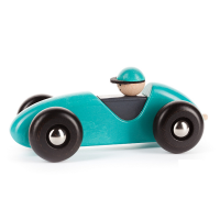 Bajo Wooden Left Right Car - Turquoise