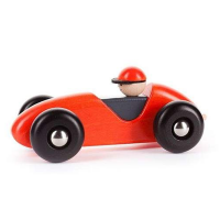 Bajo Wooden LR Car - Red
