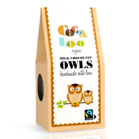 Cocoa Loco Organic Milk Chocolate Owls