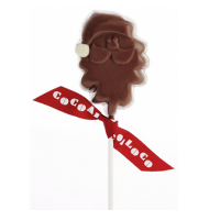 Cocoa Loco Organic Milk Chocolate Santa Lolly