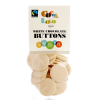 Cocoa Loco Organic White Chocolate Buttons