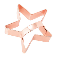 Christmas Copper Star Cookie Cutter with Handle