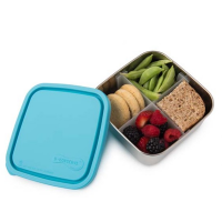 Divided To-Go Medium Stainless Steel Container - Sky
