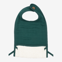 Fabelab Organic Feeding Bib Evergreen