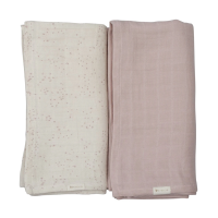 Fabelab Organic Swaddle Muslin Cloth 2 pack  - Autumn Mist