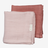 Fabelab Organic Muslin Cloth 2 Pack - Berry