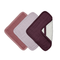 Fabelab Organic Washcloth 3 Pack - Berry