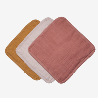 Fabelab Organic Washcloth 3 Pack - Sunset