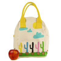 Fluf Zipper Lunch Bag - Cactus