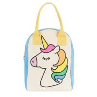 Fluf Zipper Lunch Bag - Unicorn
