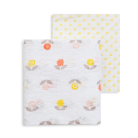 Fresk  Large Organic Swaddles (2pk) - Flower