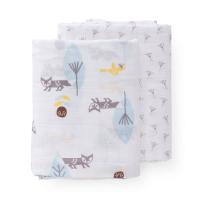 Fresk Large Organic Swaddles (2pk) - Fox