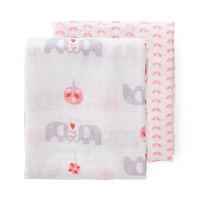 Fresk Organic Swaddle Set (2pk) - Elephant