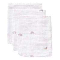 Fresk Organic Washcloth Set - Pink Rainbow