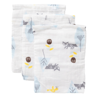 Fresk Organic Washcloth Set - Fox Blue