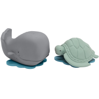 Hevea Ingolf the Whale & Dagmar the Turtle Squirty Bath Toy Gift Set