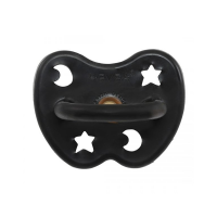 Hevea Natural Orthodontic Soother Outer Space Black 3-36 months