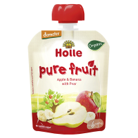 Holle Organic Baby Food Pouches - Apple & Banana with Pear