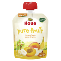 Holle Organic Baby Food Pouches - Banana, Apple, Mango & Apricot