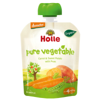 Holle Baby Food Pouches - Carrot & Sweet Potato with Peas