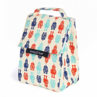 Organic Cotton Lunch Bag - Robots