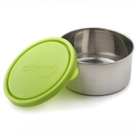 Large Round Stainless Steel Container - Lime