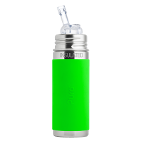 Pura Kiki 9oz Vacuum Insulated Straw Bottle - Green Sleeve