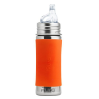 Pura Kiki 11oz Toddler Sippy Bottle - Orange Sleeve