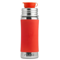 Pura Sport Mini 11oz Stainless Steel Bottle - Orange Sleeve
