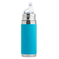 Pura Kiki 9oz Vacuum Insulated Sippy Bottle - Aqua Sleeve