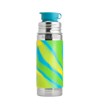 Pura Sport Mini 9oz Vacuum Insulated Bottle - Aqua Swirl Sleeve