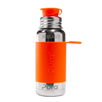 Pura Sports Top 16oz Vacuum Insulated Bottle - Orange Sleeve