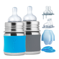 Pura Kiki® 5oz Infant Starter Set (0m-18m) Aqua/Slate Grey