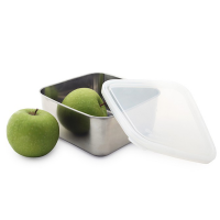 Square Stainless Steel Container - Clear