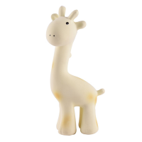 Tikiri Giraffe Natural Rubber Teether, Toy & Rattle