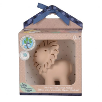 Tikiri Lion Natural Rubber Teether, Toy & Rattle