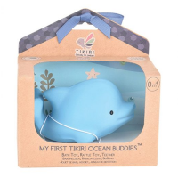 Tikiri Dolphin Natural Rubber Teether, Toy & Rattle