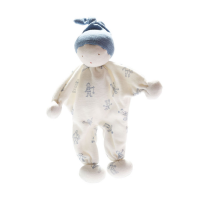 Organic Baby Comforter little folk blue