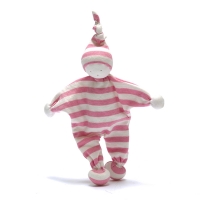 Organic Baby Buddy pink stripes