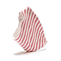 Organic Cotton Dribble Bib pink stripes