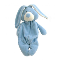 Wooly Organic Comforter Bunny Blue with Soother Holder